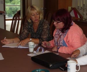 Sue Bartlett (United Response) and Ellie Moseley, Cornwall Works Hub Manager (Inclusion Cornwall)